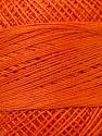 Fiber Content 100% Mercerised Cotton, Orange, Brand ICE, Yarn Thickness 0 Lace  Fingering Crochet Thread, fnt2-27800