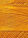 Fiber Content 100% Mercerised Cotton, Brand ICE, Gold, Yarn Thickness 0 Lace  Fingering Crochet Thread, fnt2-27801