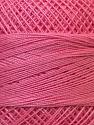 Fiber Content 100% Mercerised Cotton, Pink, Brand ICE, Yarn Thickness 0 Lace  Fingering Crochet Thread, fnt2-27805