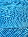 Fiber Content 100% Mercerised Cotton, Brand ICE, Blue, Yarn Thickness 0 Lace  Fingering Crochet Thread, fnt2-27808