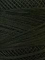 Fiber Content 100% Mercerised Cotton, Brand ICE, Dark Green, Yarn Thickness 0 Lace  Fingering Crochet Thread, fnt2-27810