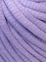 This is a tube-like yarn with soft cotton fleece filled inside. Fiber Content 70% Cotton, 30% Polyester, Light Lilac, Brand ICE, Yarn Thickness 5 Bulky  Chunky, Craft, Rug, fnt2-32500