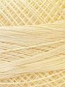 Fiber Content 100% Mercerised Cotton, Light Yellow, Brand ICE, Yarn Thickness 0 Lace  Fingering Crochet Thread, fnt2-32513