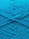 Fiber Content 94% Acrylic, 6% Lurex, Turquoise, Brand ICE, Yarn Thickness 3 Light  DK, Light, Worsted, fnt2-33036