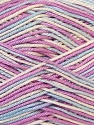 Fiber Content 100% Mercerised Cotton, White, Lilac, Brand ICE, Blue, Yarn Thickness 2 Fine  Sport, Baby, fnt2-34764