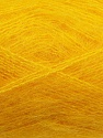 Fiber Content 70% Mohair, 30% Acrylic, Yellow, Brand ICE, Yarn Thickness 3 Light  DK, Light, Worsted, fnt2-35050