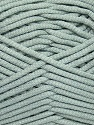 This is a tube-like yarn with soft fleece inside. Fiber Content 73% Viscose, 27% Polyester, Light Grey, Brand ICE, Yarn Thickness 5 Bulky  Chunky, Craft, Rug, fnt2-35598