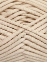 This is a tube-like yarn with soft fleece inside. Fiber Content 73% Viscose, 27% Polyester, Brand ICE, Beige, Yarn Thickness 5 Bulky  Chunky, Craft, Rug, fnt2-35600