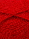 Fiber Content 70% Angora, 30% Acrylic, Red, Brand ICE, Yarn Thickness 2 Fine  Sport, Baby, fnt2-35682