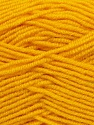 Fiber Content 70% Acrylic, 30% Wool, Yellow, Brand ICE, Yarn Thickness 3 Light  DK, Light, Worsted, fnt2-35754