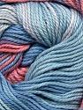 Fiber Content 100% Cotton, Salmon, Brand ICE, Blue Shades, Yarn Thickness 2 Fine  Sport, Baby, fnt2-36179