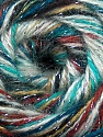 Fiber Content 70% Acrylic, 5% Lurex, 25% Angora, Turquoise, Teal, Brand ICE, Cream, Brown Shades, Yarn Thickness 2 Fine  Sport, Baby, fnt2-36290