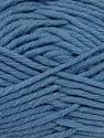 Fiber Content 50% Acrylic, 50% Wool, Jeans Blue, Brand ICE, fnt2-36515