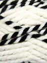 Fiber Content 65% Acrylic, 35% Wool, White, Brand ICE, Black, Yarn Thickness 6 SuperBulky  Bulky, Roving, fnt2-36601