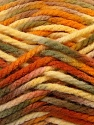 Fiber Content 100% Acrylic, Yellow, Orange, Brand ICE, Green, Brown, Yarn Thickness 6 SuperBulky  Bulky, Roving, fnt2-37038