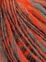 Fiber Content 50% Acrylic, 30% Wool, 20% Alpaca, Neon Orange, Brand ICE, Grey, fnt2-37564