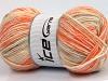 Wool Sport Print Orange Shades Cream Beige