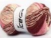 Jacquard Wool Rosa Krem Burgunder