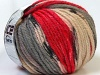 Alpaca Bulky Magic Red Grey Cream