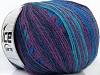 Alpaca Fine Magic Turquoise Purple Maroon Blue