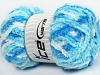 Puffy White Turquoise Blue