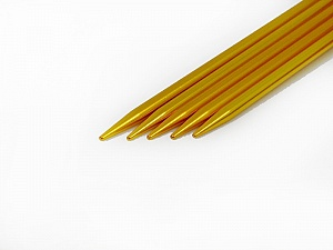 5 mm (US 8) A set of 5 double-point knitting needles. Length: 20 cm (8&). Material: Aluminum. 5 mm (US 8) Yarn Thickness Other, Brand ICE, acs-29