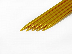 6 mm (US 10) A set of 5 double-point knitting needles. Length: 20 cm (8&). Material: Aluminum. 6 mm (US 10) Yarn Thickness Other, Brand ICE, acs-30