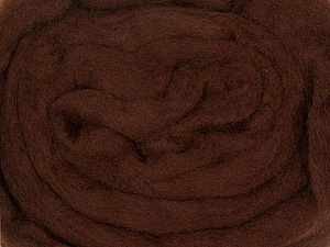 50gr-1.8m (1.76oz-1.97yards) 100% Wool felt Fiber Content 100% Wool, Yarn Thickness Other, Brand ICE, Brown, acs-929