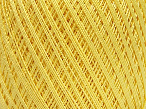 Ne: 10/3 Nm: 17/3 Fiber Content 100% Mercerised Cotton, Light Yellow, Brand ICE, Yarn Thickness 1 SuperFine  Sock, Fingering, Baby, fnt2-49851