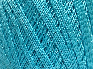 Ne: 10/3 +600d. Viscose. Nm: 17/3 Fiber Content 72% Mercerised Cotton, 28% Viscose, Light Turquoise, Brand ICE, Yarn Thickness 1 SuperFine  Sock, Fingering, Baby, fnt2-49863