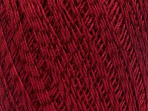 Ne: 10/3 +600d. Viscose. Nm: 17/3 Fiber Content 72% Mercerised Cotton, 28% Viscose, Brand ICE, Burgundy, Yarn Thickness 1 SuperFine  Sock, Fingering, Baby, fnt2-49867
