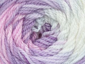 . Fiber Content 100% Baby Acrylic, White, Pink, Lilac Shades, Brand ICE, Yarn Thickness 2 Fine  Sport, Baby, fnt2-50006