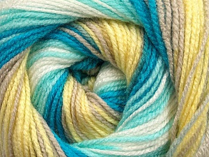 . Fiber Content 100% Baby Acrylic, Yellow, White, Turquoise, Mint Green, Brand ICE, Beige, Yarn Thickness 2 Fine  Sport, Baby, fnt2-50008