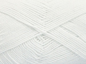 Fiber Content 100% Cotton, White, Brand ICE, Yarn Thickness 2 Fine  Sport, Baby, fnt2-50093