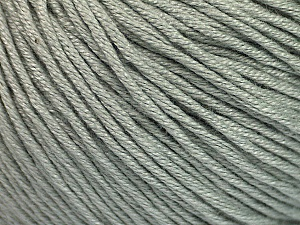 Fiber Content 60% Bamboo, 40% Cotton, Light Grey, Brand ICE, Yarn Thickness 3 Light  DK, Light, Worsted, fnt2-50534