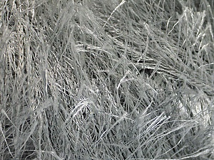 Fiber Content 100% Polyester, Light Grey, Brand ICE, Yarn Thickness 5 Bulky  Chunky, Craft, Rug, fnt2-50635