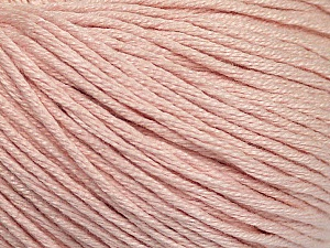 Fiber Content 60% Bamboo, 40% Cotton, Light Pink, Brand ICE, Yarn Thickness 3 Light  DK, Light, Worsted, fnt2-50689
