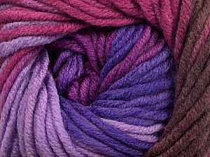 Fiber Content 100% Acrylic, Purple Shades, Orchid, Maroon, Brand ICE, Yarn Thickness 5 Bulky  Chunky, Craft, Rug, fnt2-50842
