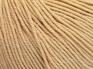 Fiber Content 60% Cotton, 40% Acrylic, Brand ICE, Dark Cream, Yarn Thickness 2 Fine  Sport, Baby, fnt2-51220
