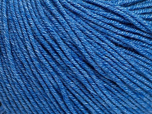Fiber Content 60% Cotton, 40% Acrylic, Jeans Blue, Brand ICE, Yarn Thickness 2 Fine  Sport, Baby, fnt2-51235
