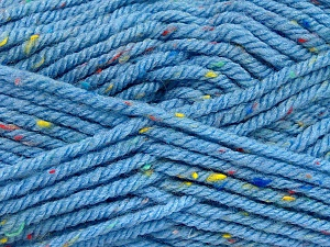 Fiber Content 72% Acrylic, 3% Viscose, 25% Wool, Light Blue, Brand ICE, Yarn Thickness 6 SuperBulky  Bulky, Roving, fnt2-51359