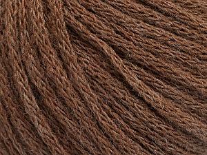 Fiber Content 50% Acrylic, 50% Wool, Brand ICE, Brown Melange, Yarn Thickness 4 Medium  Worsted, Afghan, Aran, fnt2-51393