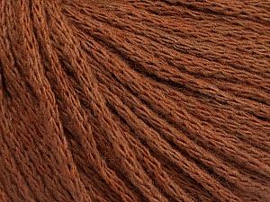 Fiber Content 50% Acrylic, 50% Wool, Brand ICE, Brown, Yarn Thickness 4 Medium  Worsted, Afghan, Aran, fnt2-51394