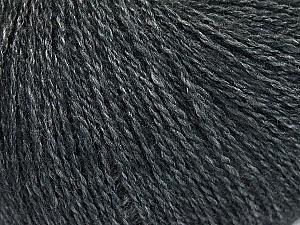 Fiber Content 65% Merino Wool, 35% Silk, Brand ICE, Dark Grey, Yarn Thickness 1 SuperFine  Sock, Fingering, Baby, fnt2-51452