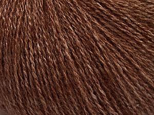 Fiber Content 65% Merino Wool, 35% Silk, Brand ICE, Brown, Yarn Thickness 1 SuperFine  Sock, Fingering, Baby, fnt2-51454