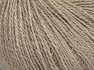 Fiber Content 65% Merino Wool, 35% Silk, Brand ICE, Beige, Yarn Thickness 1 SuperFine  Sock, Fingering, Baby, fnt2-51455