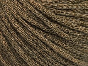 Fiber Content 50% Acrylic, 50% Wool, Khaki Melange, Brand ICE, Yarn Thickness 4 Medium  Worsted, Afghan, Aran, fnt2-51474