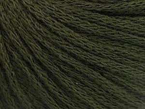 Fiber Content 50% Acrylic, 50% Wool, Brand ICE, Dark Green, Yarn Thickness 4 Medium  Worsted, Afghan, Aran, fnt2-51476