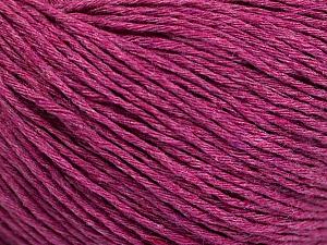 Fiber Content 100% Cotton, Brand ICE, Fuchsia Melange, Yarn Thickness 1 SuperFine  Sock, Fingering, Baby, fnt2-51481