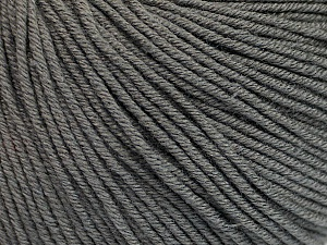 Fiber Content 60% Cotton, 40% Acrylic, Brand ICE, Grey, Yarn Thickness 2 Fine  Sport, Baby, fnt2-51557